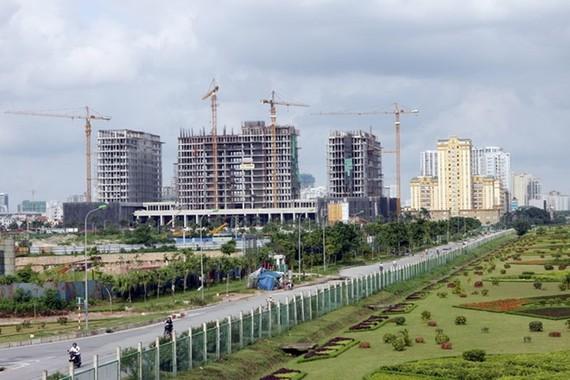 Một góc khu đô thị Mễ Trì Thượng (Hà Nội).
