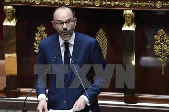 Thủ tướng Pháp Edouard Philippe trong bài phát biểu tại phiên họp Quốc hội ở thủ đô Paris ngày 4/7. (Nguồn: EPA/TTXVN)