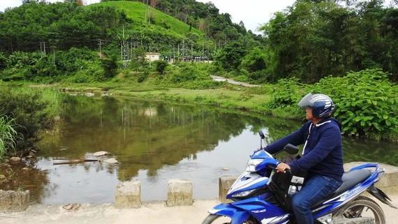 Sông Nước Lah (xã Trà Don, huyện Nam Trà My) đang được đề xuất xây dựng nhà máy thủy điện - Ảnh: Việt Hùng