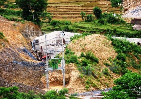 Dự án Thủy điện Suối Mu xây dựng tại khu vực Thác Mu, huyện Lạc Sơn, tỉnh Hòa Bình.
