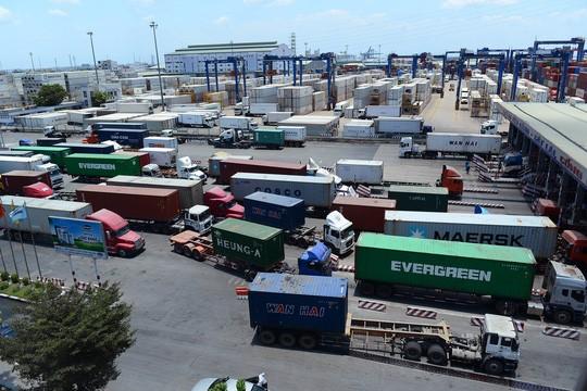 Một góc cảng Cát Lái, quận 2, TP HCM. Ảnh: Hoàng Triều
