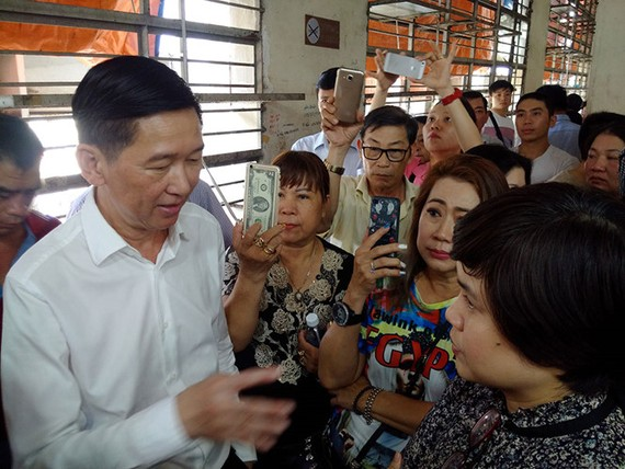 Tiểu thương chợ An Đông trong buổi gặp gỡ lãnh đạo TP.HCM