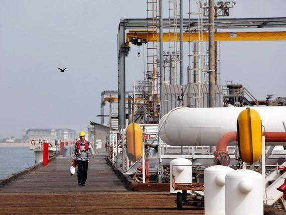 Cơ sở lọc dầu trên đảo Khark, vùng Vịnh.