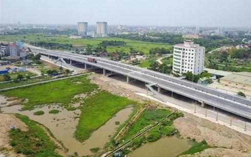 Chủ đầu tư Dự án đường Lê Đức Thọ - Xuân Phương (Hà Nội) bị kết luận không đủ năng lực tài chính khi triển khai dự án. Ảnh: Mạnh Thắng