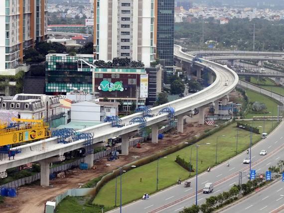 Tuyến metro số 1 đang xây dựng