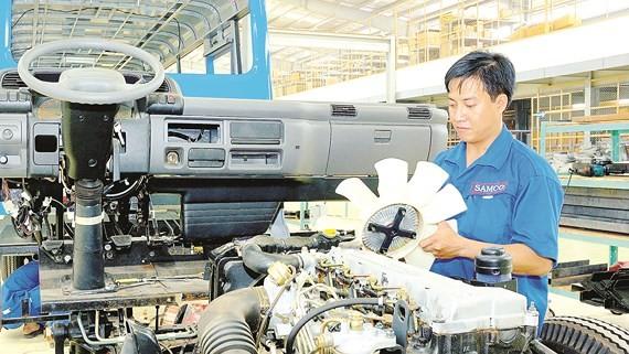 Sản xuất ô tô trong nước tại SAMCO Ảnh: CAO THĂNG