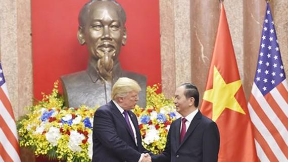 Chủ tịch nước Trần Đại Quang và Tổng thống Donald Trump