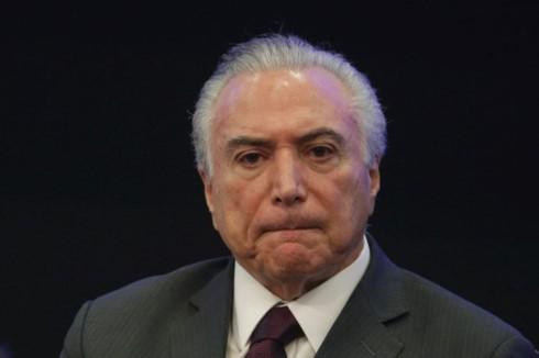 Tổng thống Brazil Temer. Ảnh: afr.com.