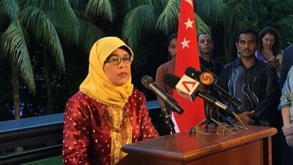 Bà Halimah Yacob. Nguồn: Yahoo News Singapore