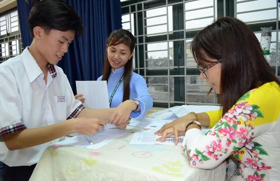 Thí sinh cần khai chính xác thông tin khi làm hồ sơ đăng ký dự thi