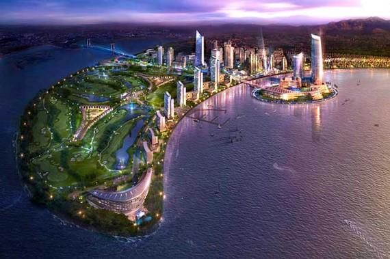 Phối cảnh khu đô thị quốc tế mới Đa Phước