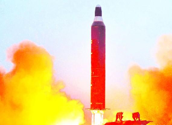 Một vụ thử tên lửa của Triều Tiên gần đây