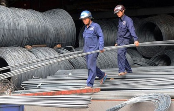The steel market recovered in May (Photo: SGGP)