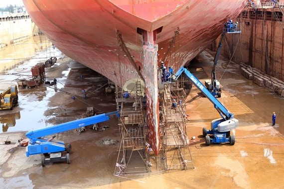 Dung Quat Shipyard is among the loss-making projects to be restructured (Photo: VNA)