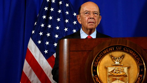 Bộ trưởng Thương mại Mỹ Wilbur Ross. Ảnh: REUTERS