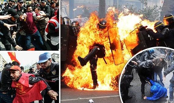 Biểu tình bạo lực trên khắp châu Âu trong Ngày Quốc tế Lao động