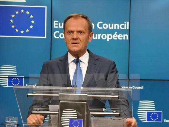 Chủ tịch Hội đồng châu Âu Donald Tusk. (Ảnh: Kim Chung/TTXVN)