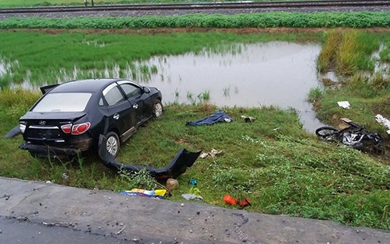 圖為該起交通事故現場。(圖源:互聯網)