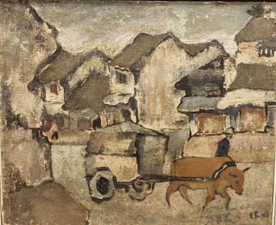 被視為裴春派畫家作品的《老街》面對複製畫懸案。