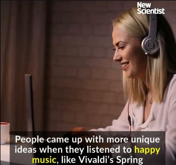 歡快音樂有助提升創造力。(圖源:New Scientist視頻截圖)