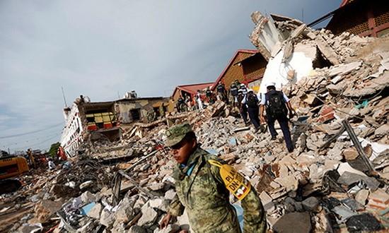 墨西哥日前大地震,造成了生命與財產的巨大損失。國家主席陳大光昨(10)日向墨西哥總統恩里克‧培尼亞‧涅托致電慰問。(圖源:路透社)
