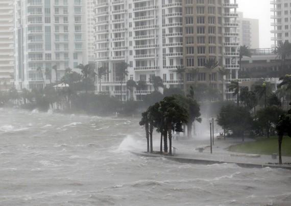 颶風「厄瑪」帶來暴雨巨浪。(圖源:AP)