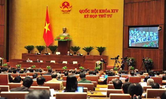 國會昨(14)日下午以88.39%贊成票通過了2018年中央財政預算調撥方案的決議。(圖源:Quochoi.vn)