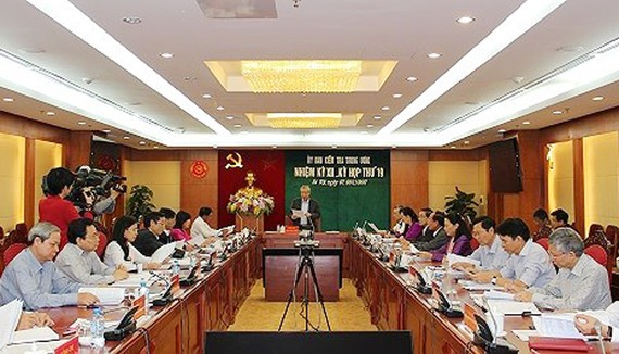 Quang cảnh kỳ họp 19 Ủy ban Kiểm tra Trung ương