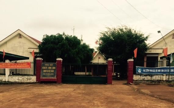 Trụ sở UBND xã Ea Blang, nơi ông Quảng đang công tác. Ảnh CÔNG HOAN.