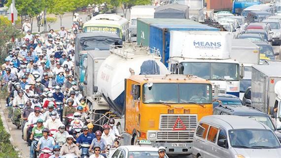 Ùn tắc giao thông tại TPHCM