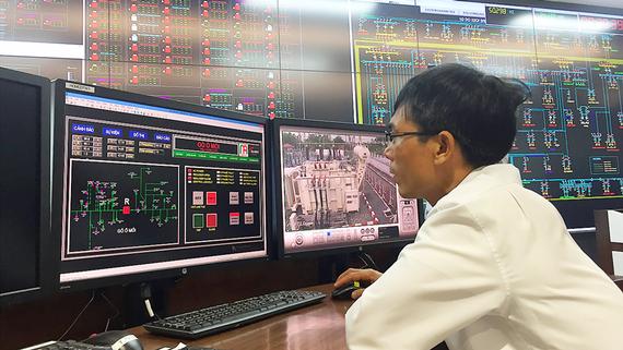 Trung tâm điều khiển hệ thống điện từ xa của Tổng công ty Điện lực TPHCM