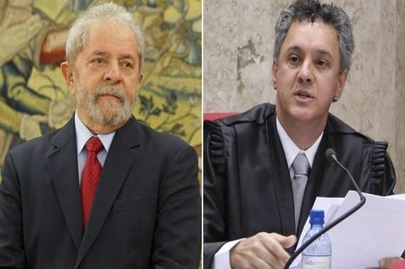 Cựu Tổng thống Lula da Silva (trái) và thẩm phán Gebran Neto. Ảnh : Prensa Latina