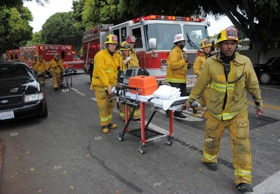 Hiện trường vụ hỏa hoạn. Ảnh: APA