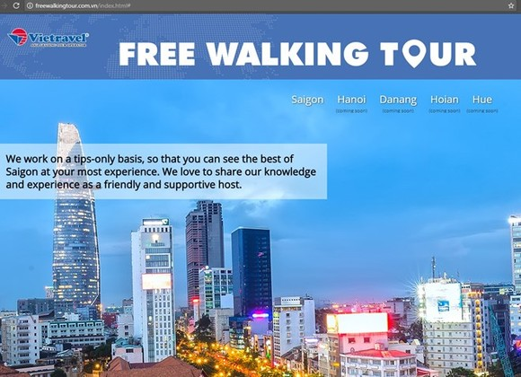 Official website of Vietravel's Free Walking Tour (Photo: freewalkingtour.com.vn)