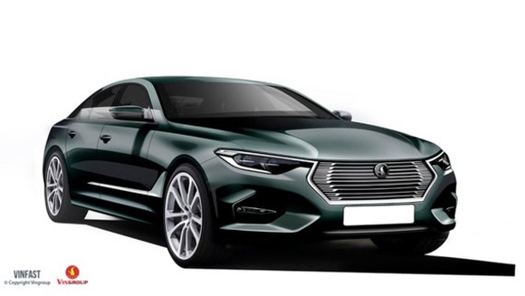 One of 20 designs of Sedan and SUv of Vinfast (Photo: SGGP)