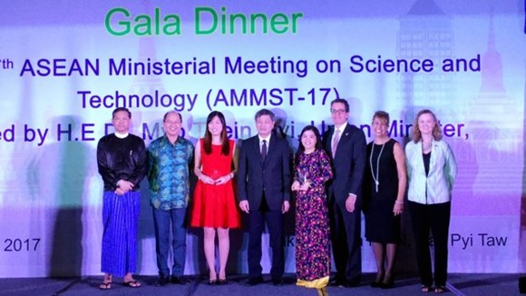 She is honored at an Award Ceremony in the presence of ASEAN Science and Technology Ministers and Senior Officials in Nay Pyi Taw, in Burma