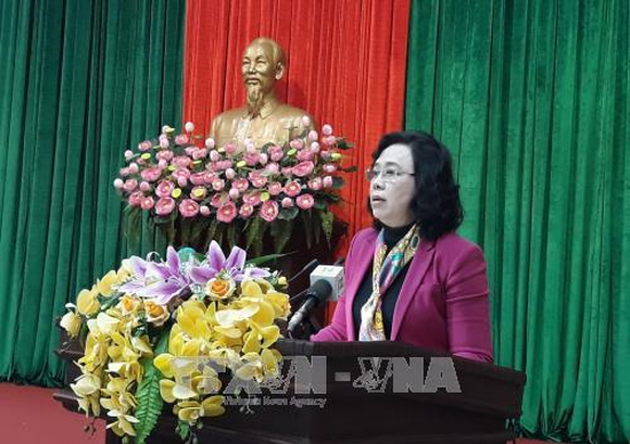 Ngo Thi Thanh Hang, Standing Vice Secretary of the municipal Party Committee (Source: VNA)