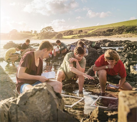 Students join an outdoor class in New Zealand. Photo courtesy of Education New Zealand
