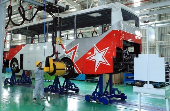 Truong Hai Auto JSC (Thaco) inaugurated Thaco Mazda automobile manufacturing plant, on March 25. (Source: VNA)