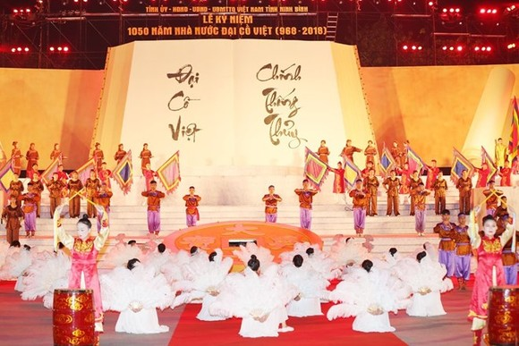 An art performance at the ceremony on April 24 (Photo: VNA)