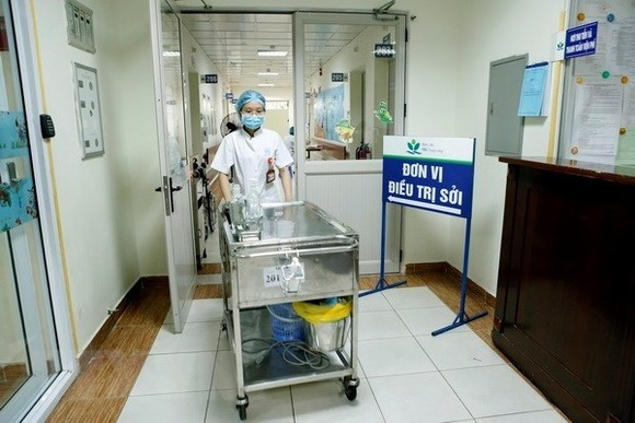 The isolated area for measles patients at Hanoi's Hospital of Pediatrics (Photo: VNA)