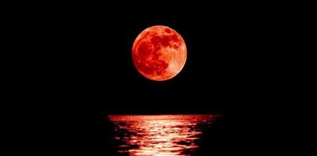 A lunar eclipse phenomenon