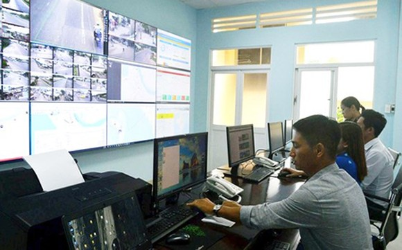 The Monitoring Center, sited at the Police Office of Phu Quoc District