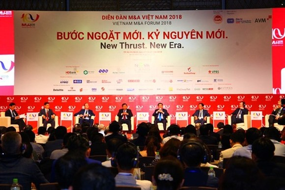 "The ""Vietnam M&A Forum 2018: New thrust, new era"" conference on August 8 (Photo: VNA)"
