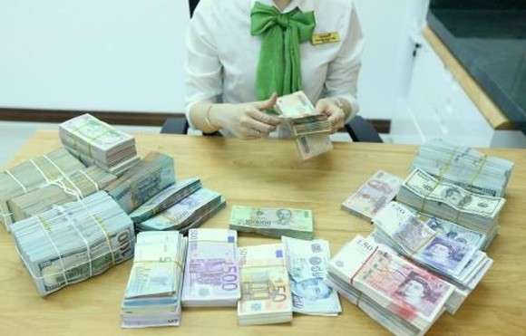 The daily reference exchange rate is set at 22,673 VND/USD on August 29 (Photo: VNA)