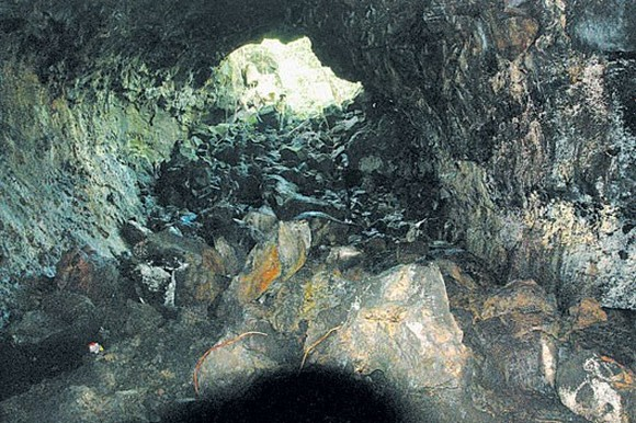 A cave in the volcanic cave system in Krong No district (Photo: Dak Nong Newspaper)