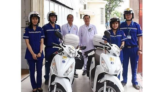 HCMC hospital provides two-wheeled ambulance service