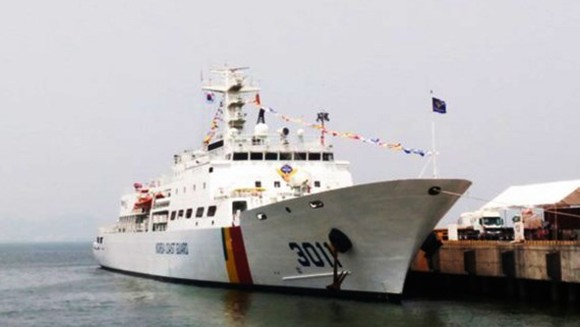RoK's coast guard ship arrives in Da Nang