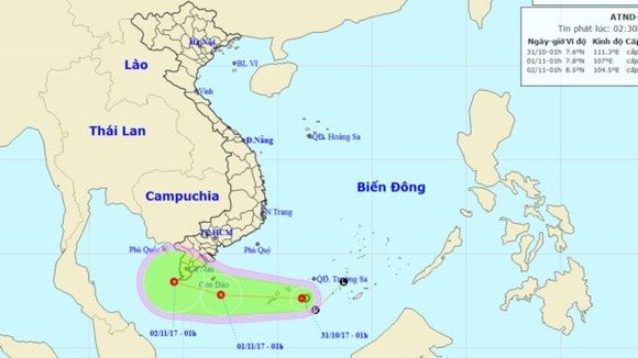 New tropical depression appears in East Sea