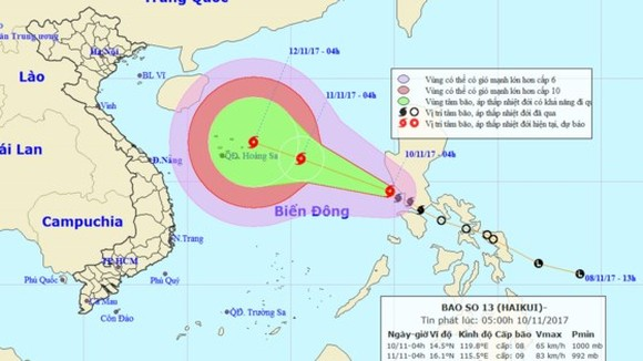 Typhoon Haikui is expected to enter northern region